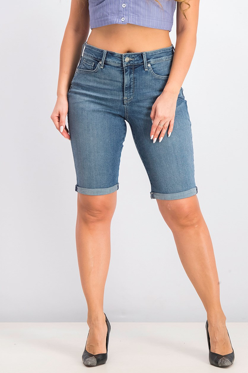 Roll Cuff Shorts, Denim Wash
