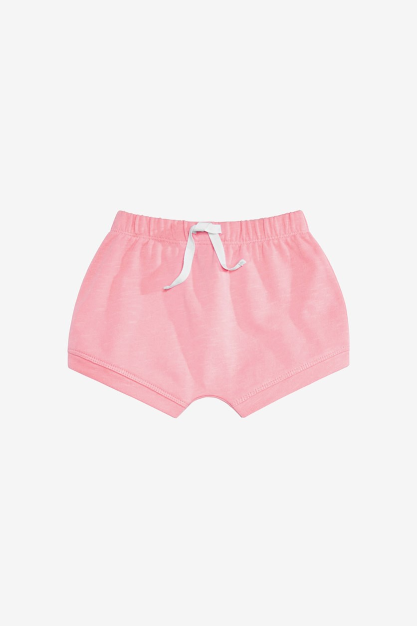 Baby Girls Bloomer Shorts, Pink Glaze