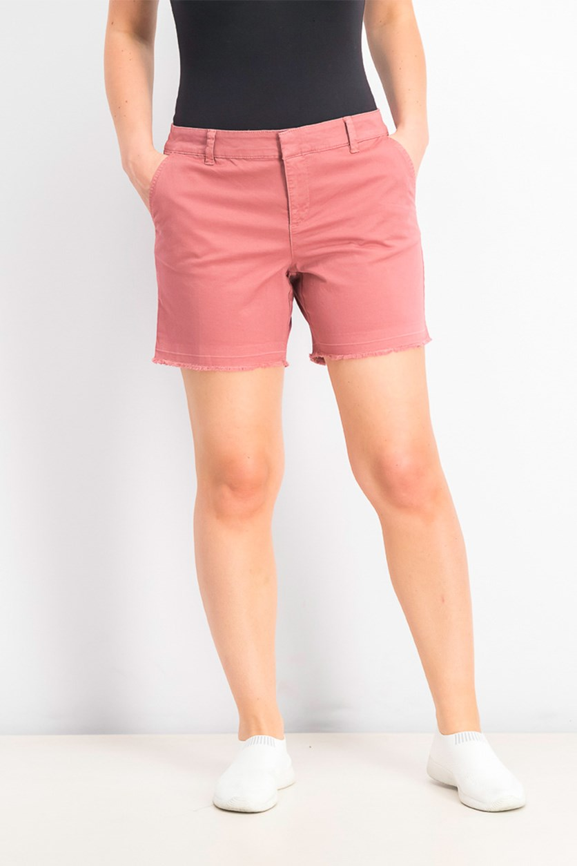 Women's Cutoff Shorts, Red Salmon