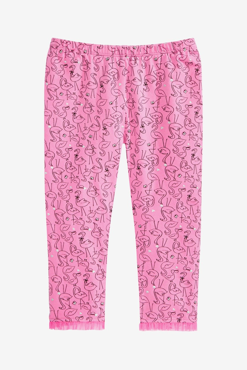 Toddler Girls Flamingo-Print Leggings, Wild Orchid