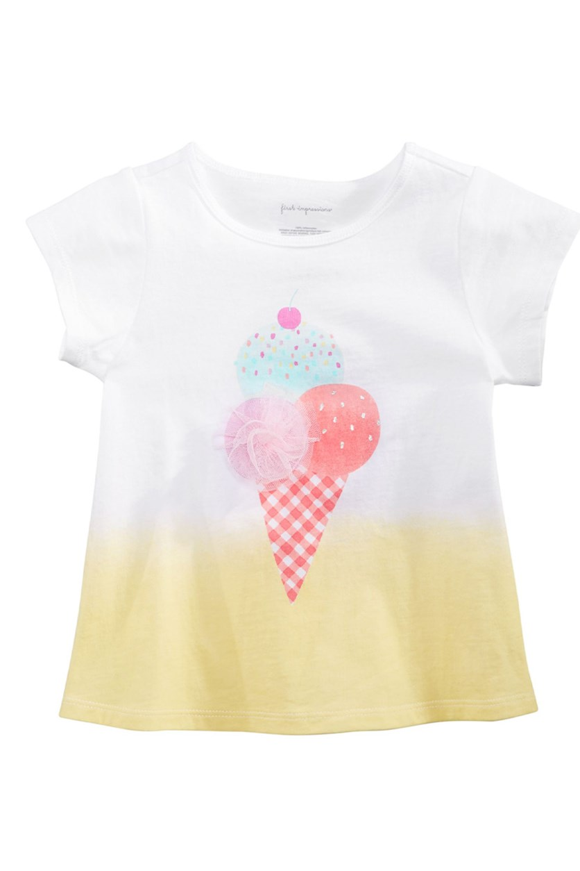 Baby Girls Love Confetti Graphic T-Shirt, Bright White