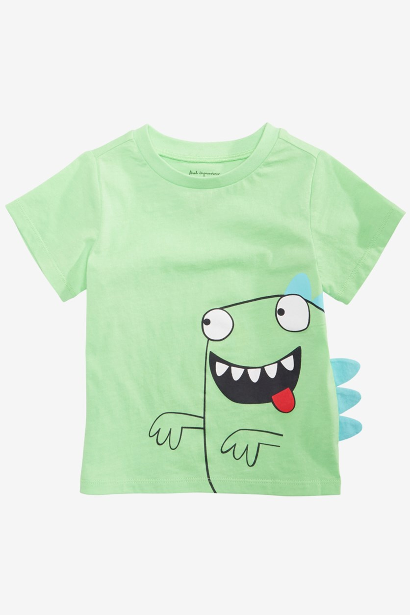 Toddler Boys Crazy Monster Graphic T-Shirt, Lime Scented