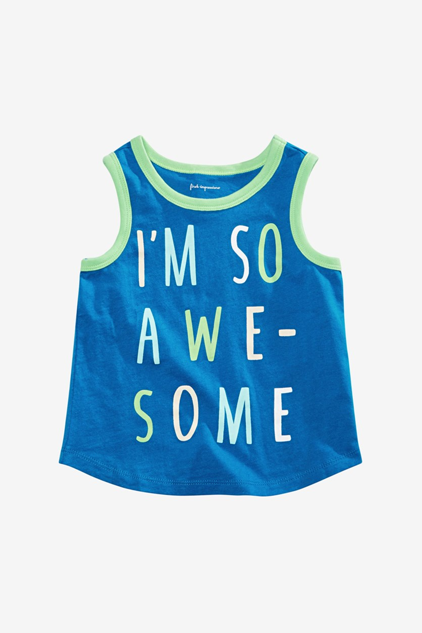Baby Boys So Awesome Graphic Tank Top, Blue/Green