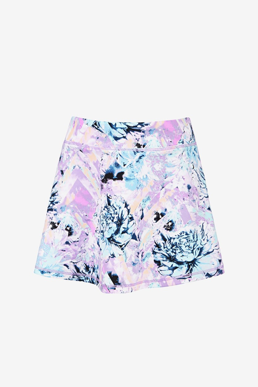 Toddler Girls Floral-Print Skort, Purple