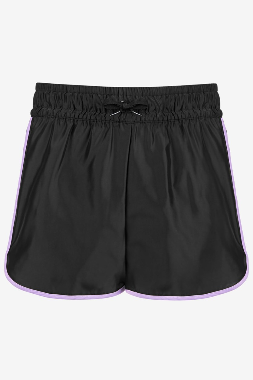 Big Girls Colorblocked Shorts, Black
