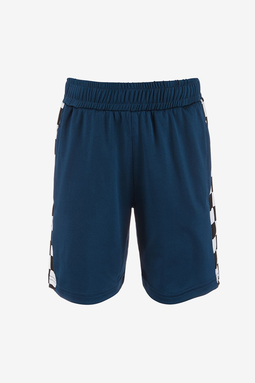 Boys Checkerboard Shorts, Lucky Blue