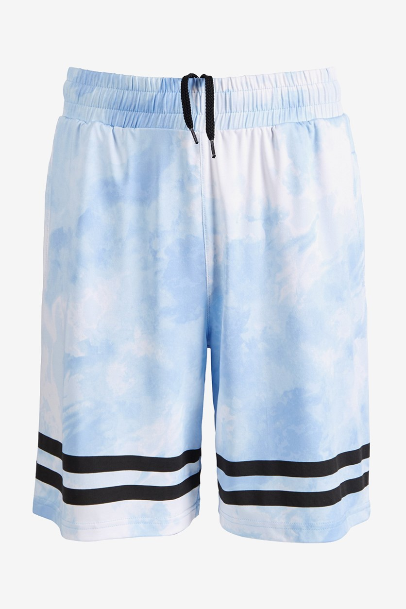 Big Boys Atmospheric Printed Shorts, Lucky Blue
