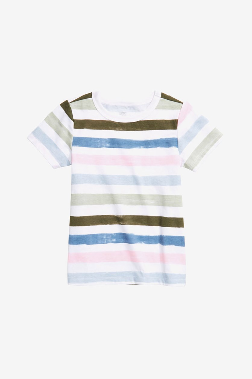 Toddler Boys Stripe T-Shirt, Bright White