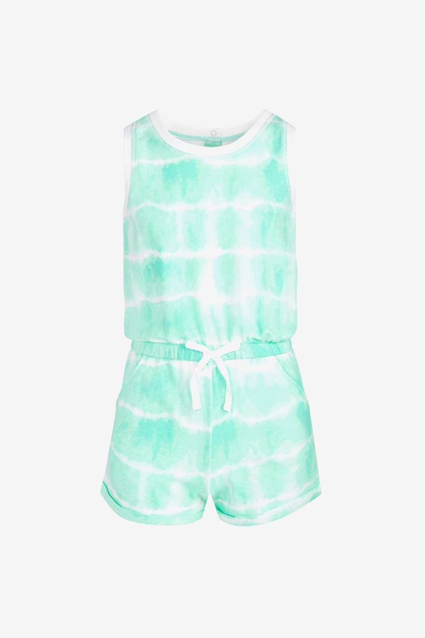 Girls Tie-Dyed Romper, Bay