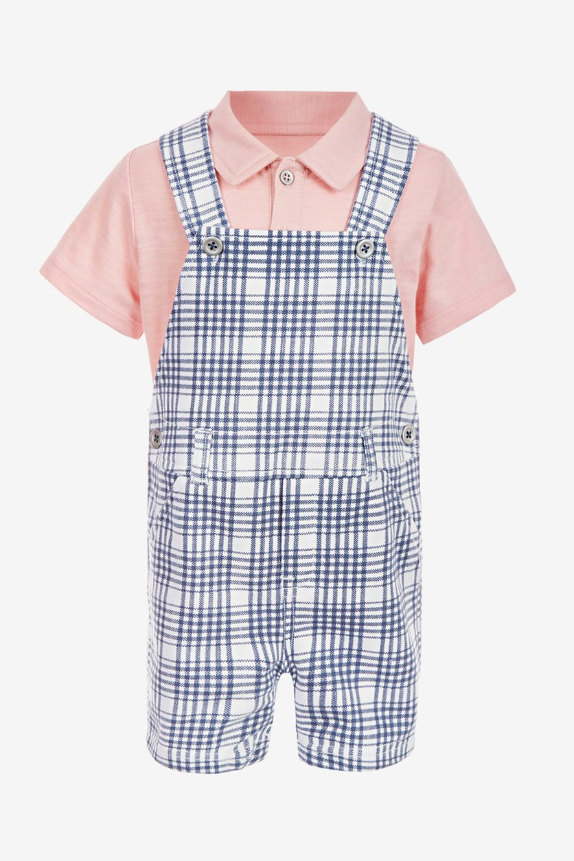 Baby Boys 2-Pc. Polo Shirt & Shortall Set, Nightfall