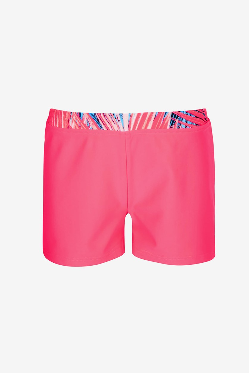 Big Girls Palm-Waist Boy Shorts, Spring Tulip
