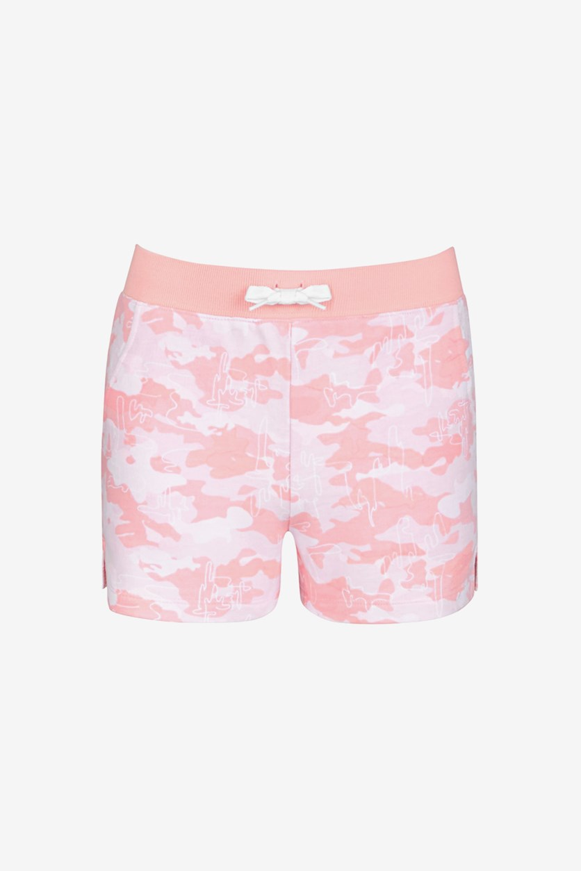 Big Girls French Terry Jogger Shorts, Satin Pink