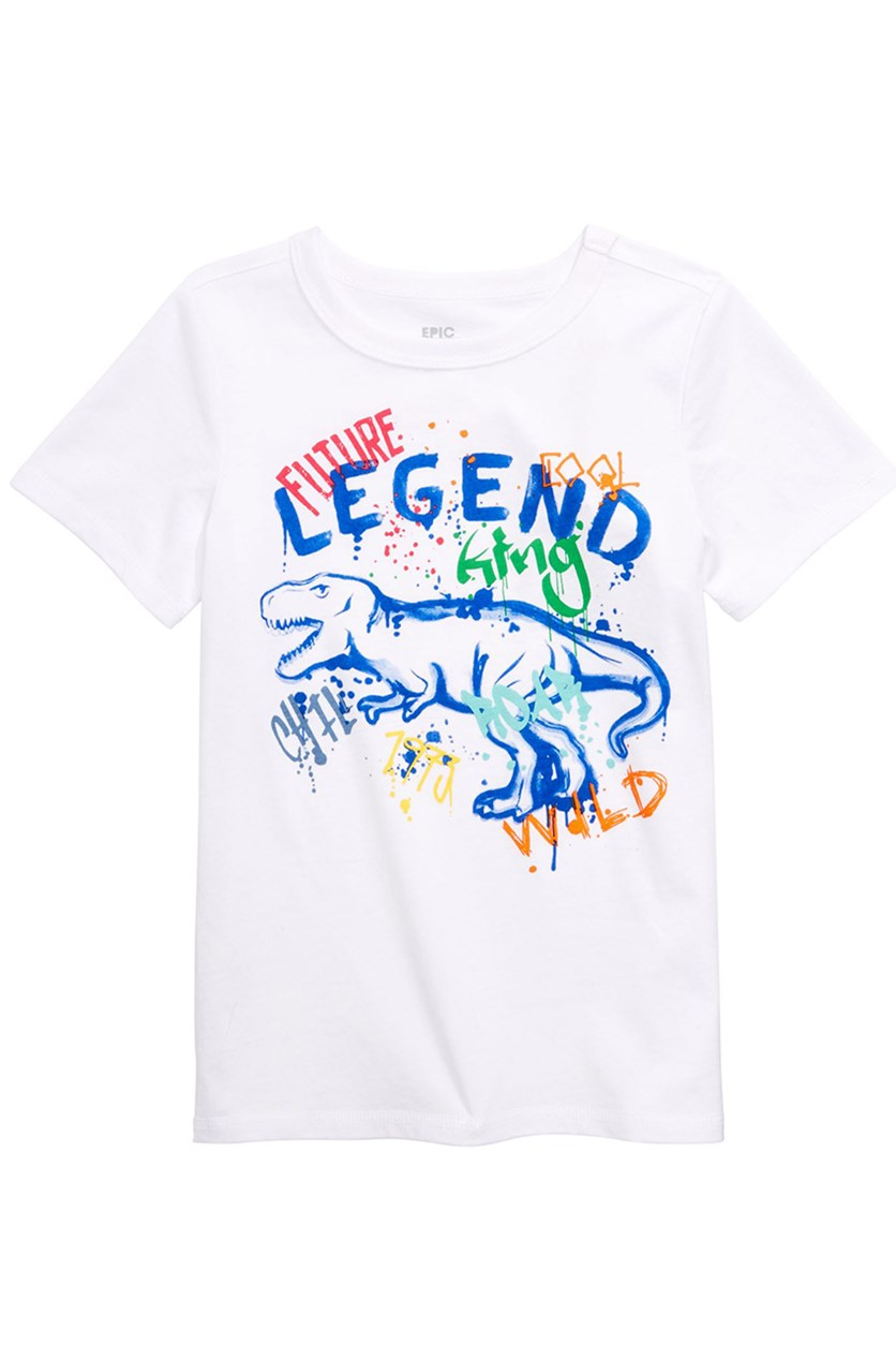 Toddler Boys Graphic T-Shirt,  Bright White