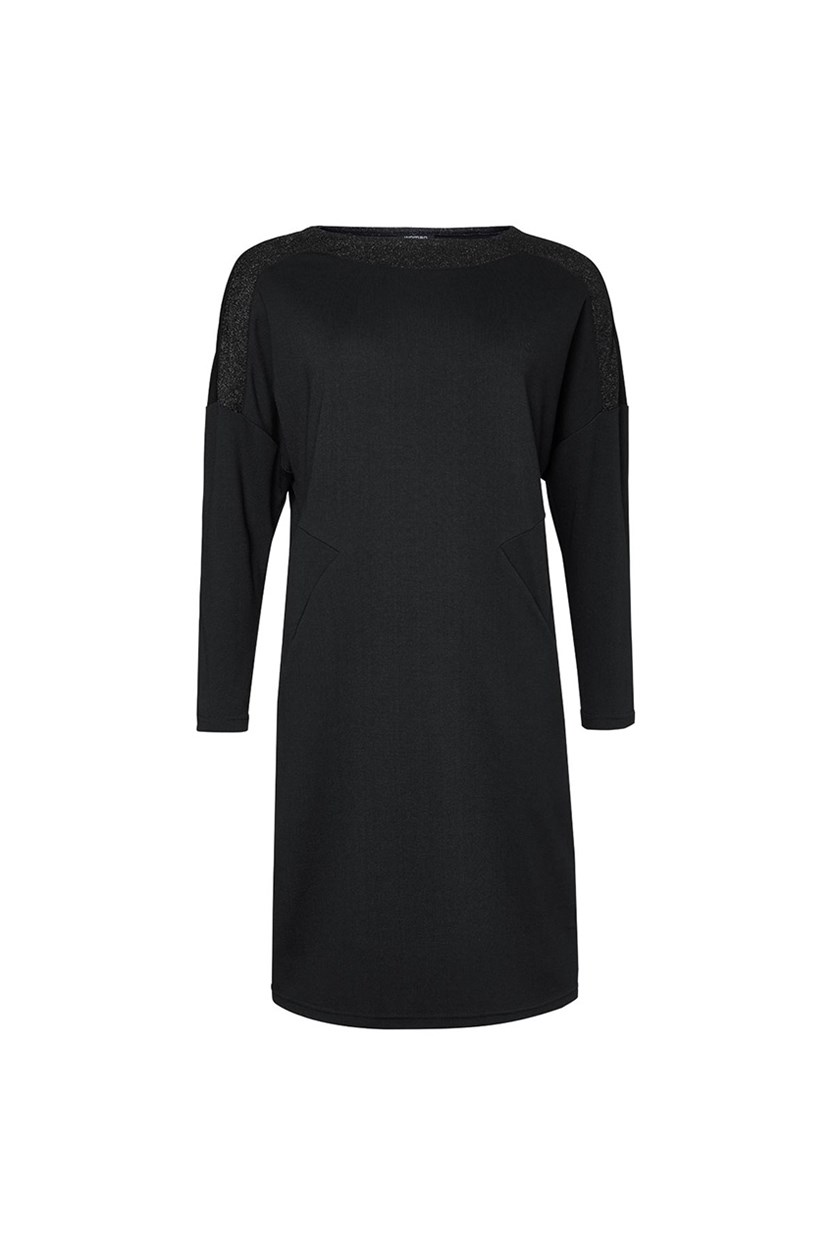 Women's Long Sleeve Dress, Black