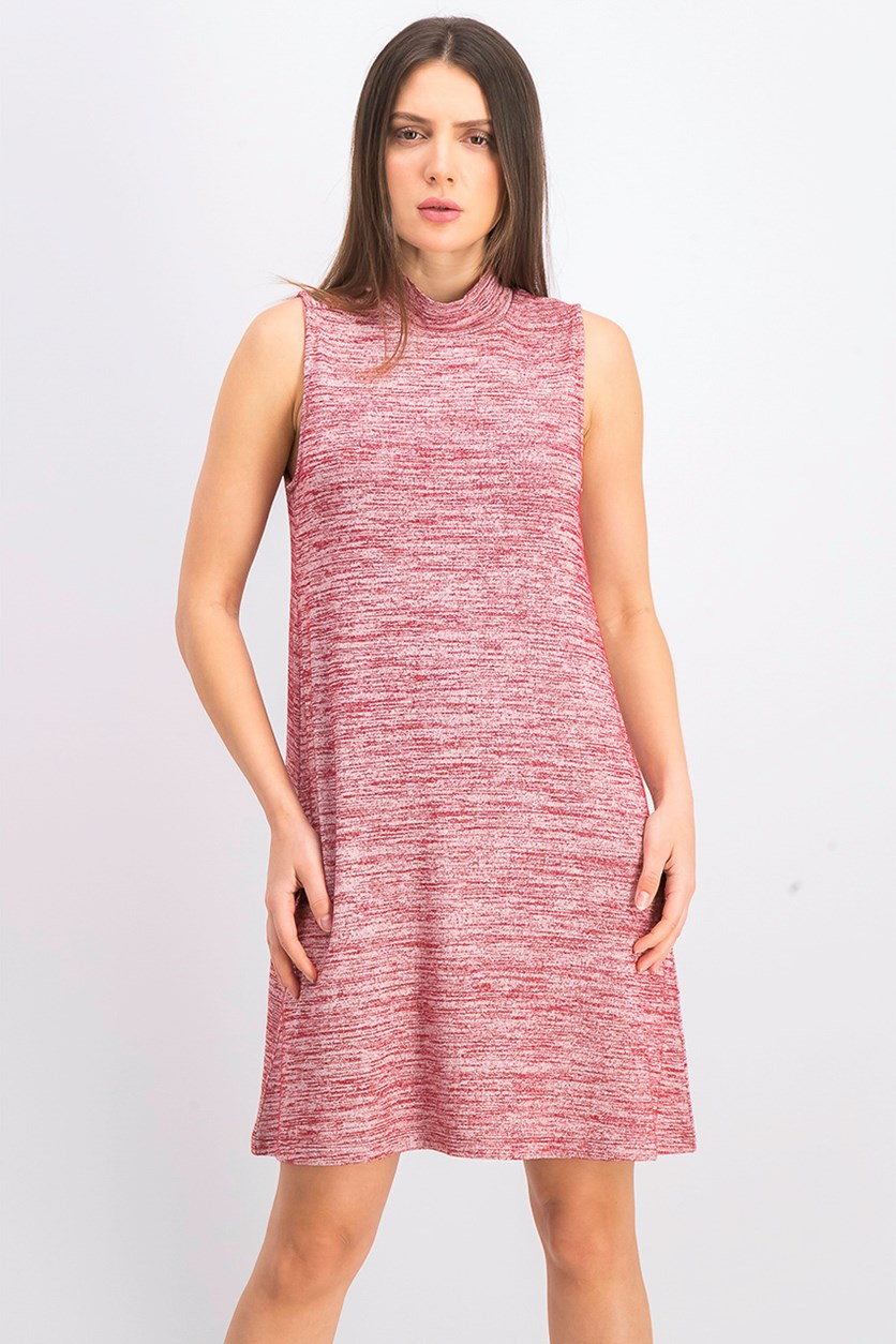 Women's Heathered Dress, Red
