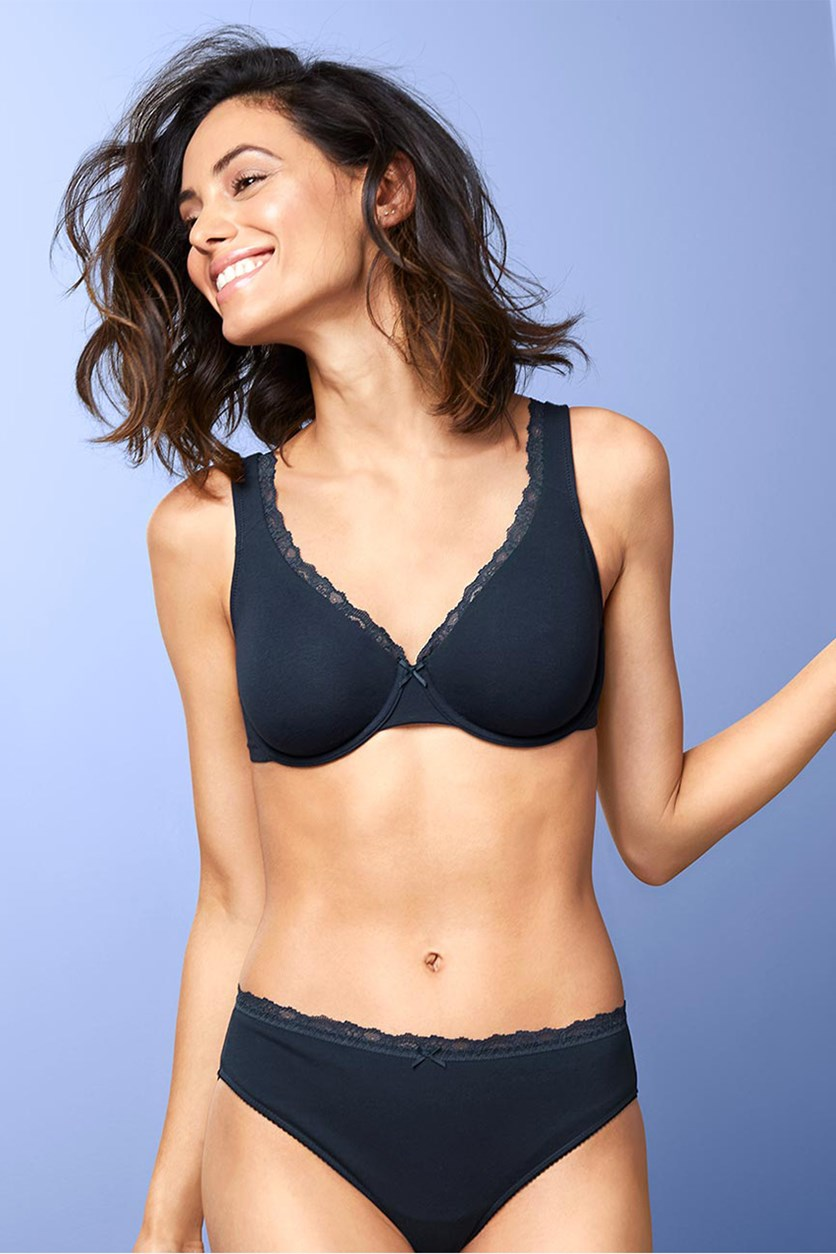 Women's Underwire Bra, Dark Blue