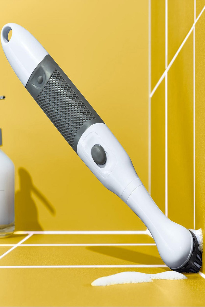 Electric Cleaning Brush, White/Gray