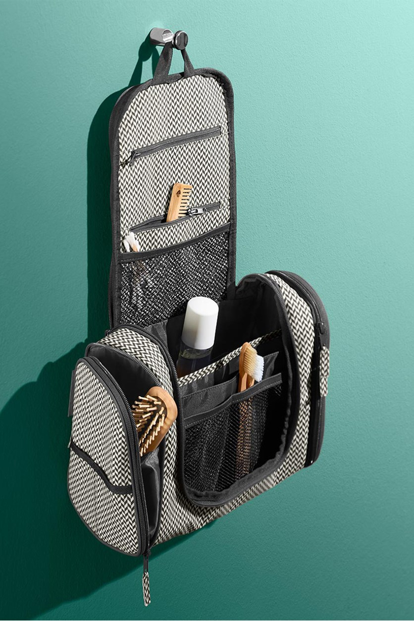 Toiletry Bag for Hanging, Charcoal Combo