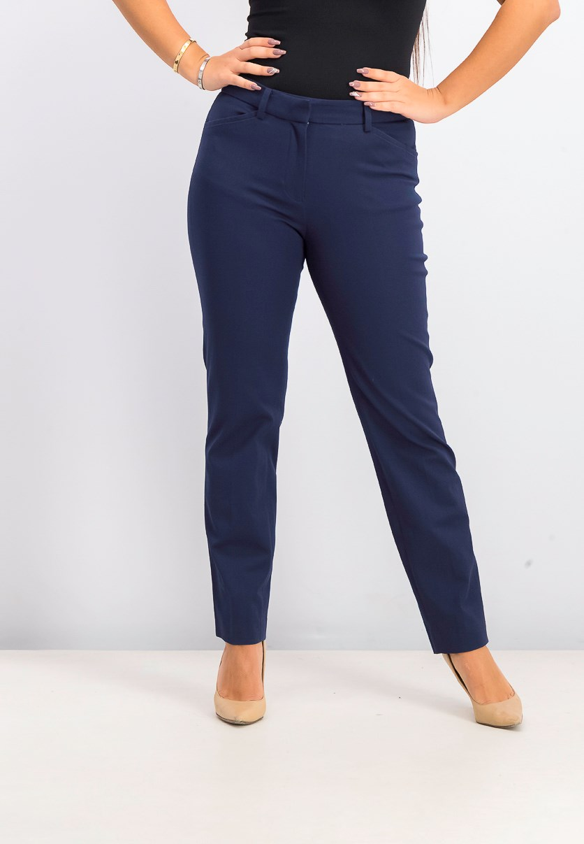 Women's Becca Straight Leg Pants, Navy