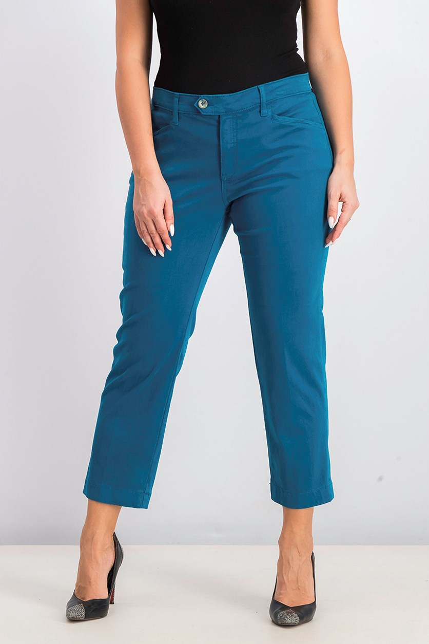 Women's Straight Leg Pants, Teal