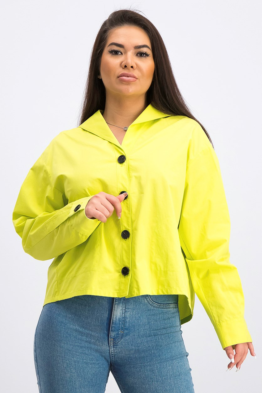 Women's Plain Outerwear, Lime