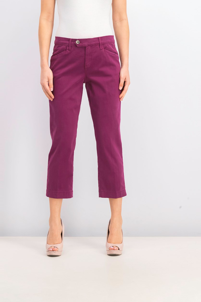 Women's Petite Margot Straight Leg Pants, Purple