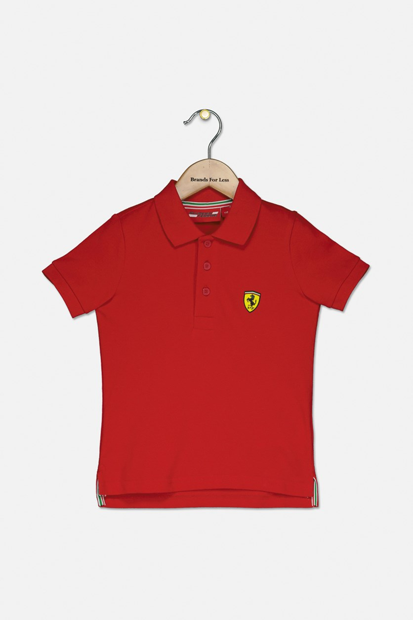 Little Boys Classic Polo Shirt, Red