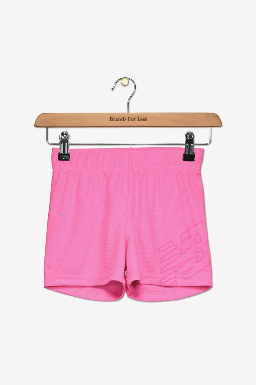 Toddlers Girl's Core Shorts, Neon Pink