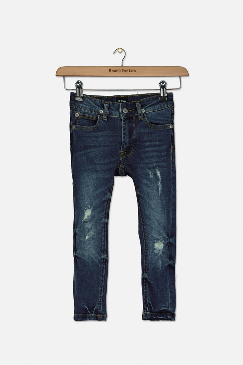Toddler's Slim Straight Denim Jeans, Blue Steel