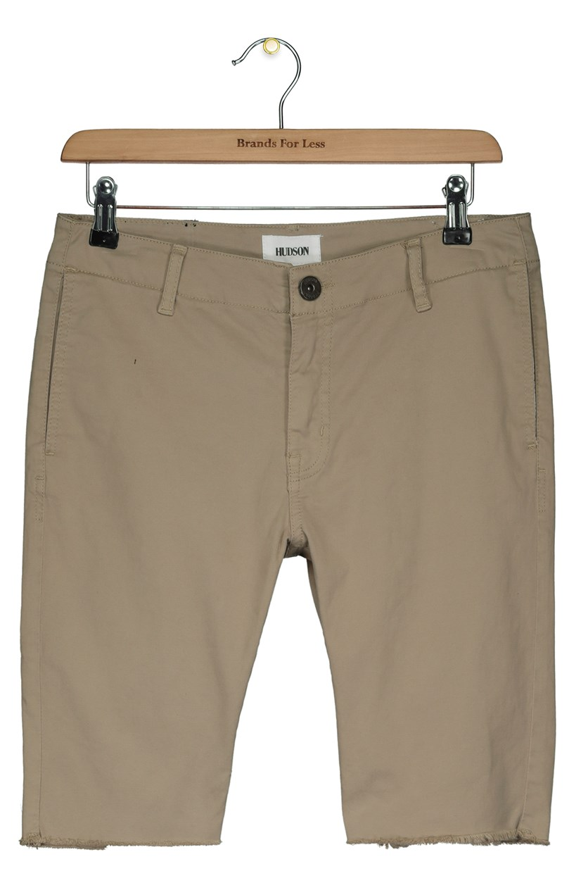 Big Boy's Four Pocket Style Frayed Hem Short, Dark Chino
