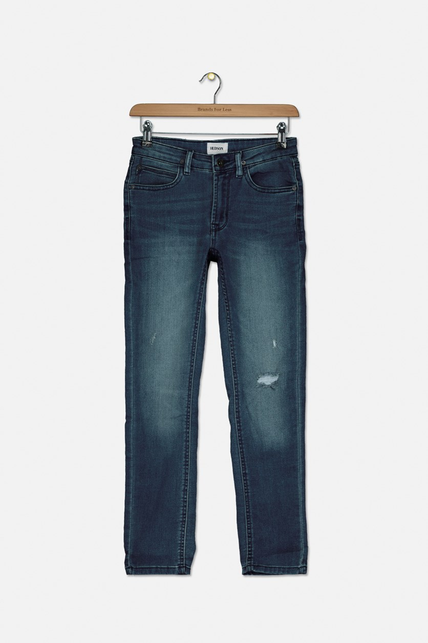 Big Boys French Terry Slim Fit Jeans, Blue Book