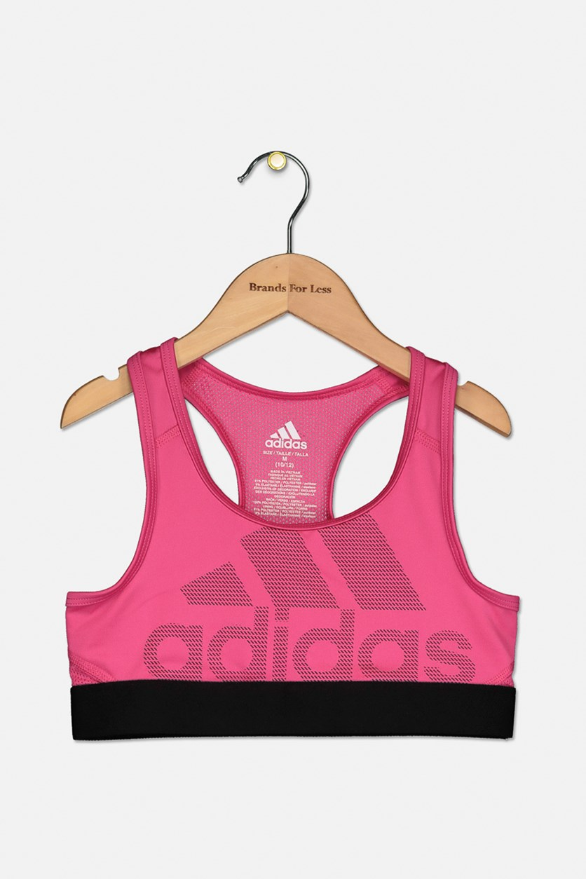 Big Girls Climacool Don't Rest Logo Bra, Pink