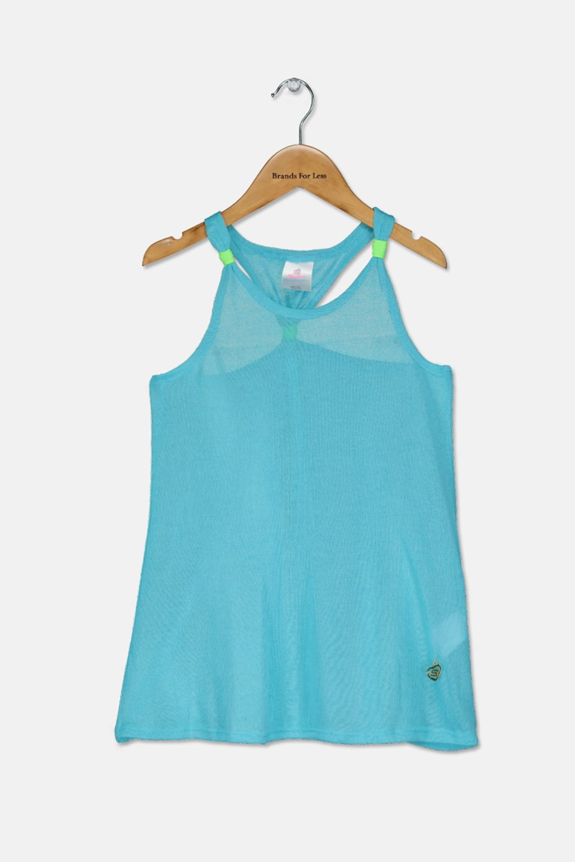 Kid's Girl Coverup, Turquoise