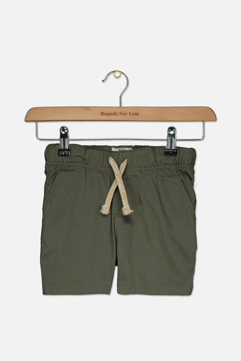 Kids Boys Stretch Twill Short, Smoky Olive
