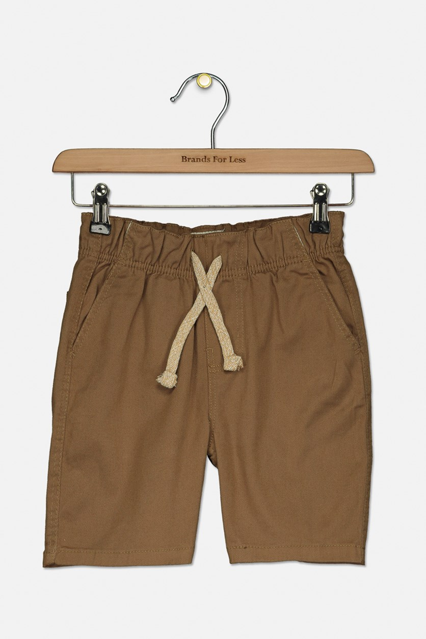 Big Boy's Stretch Twill Shorts, Wheat