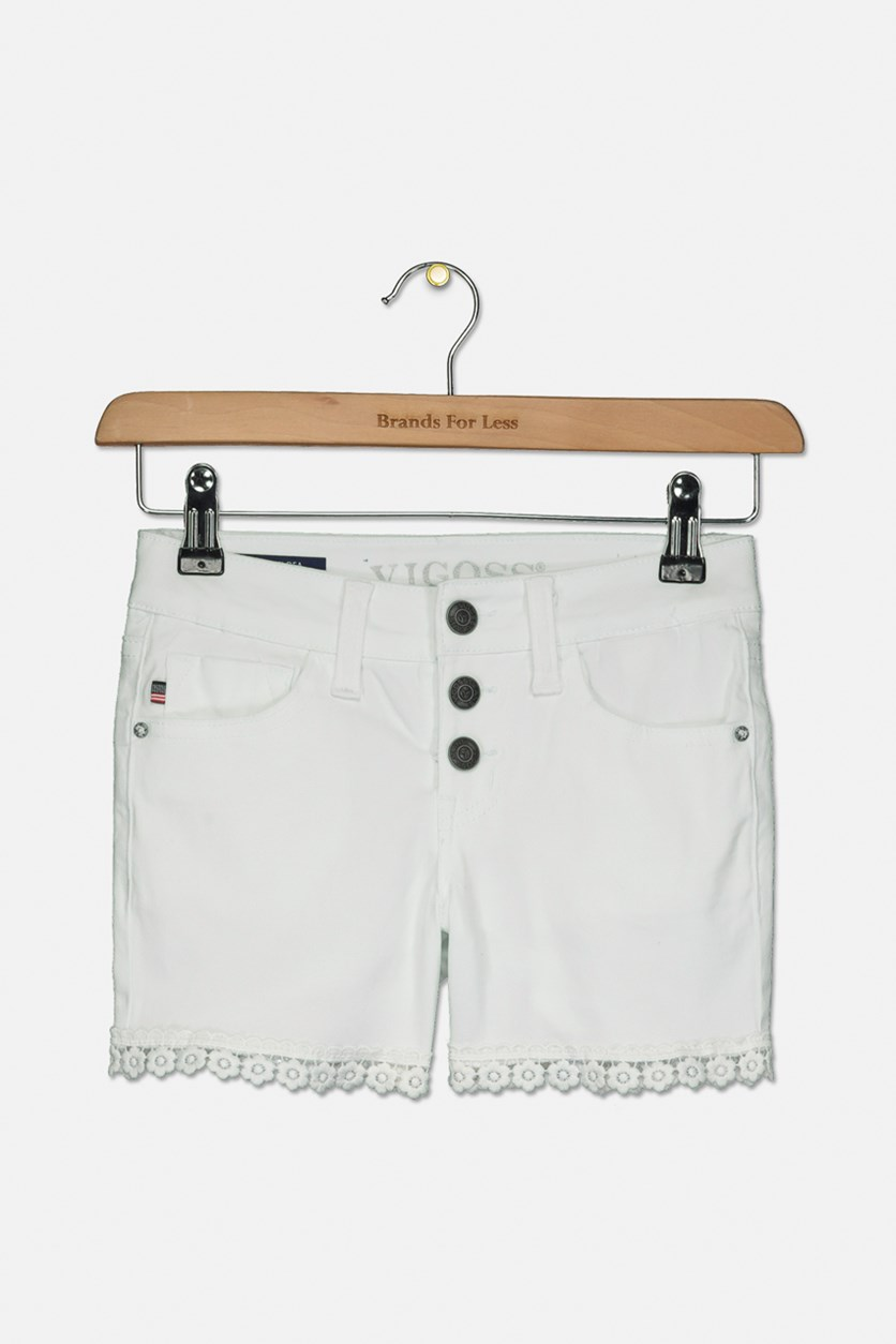 Kids Girls Chelsea Short, White