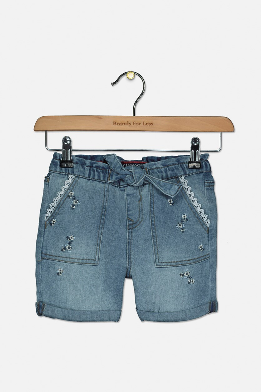 Toddlers Girl's Spring Has Sprung Pull-On Denim Shorts, Galeon