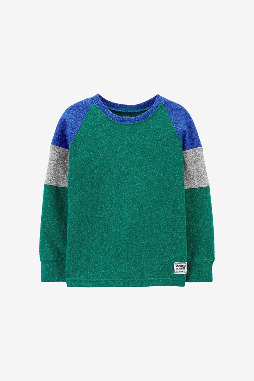 Baby Boy's Knit Long Sleeve Top, Green