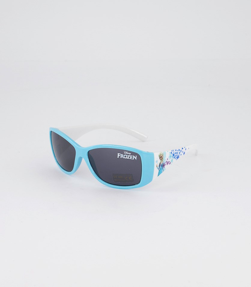 Girl's Frozen Sunglasses, Light Blue/White