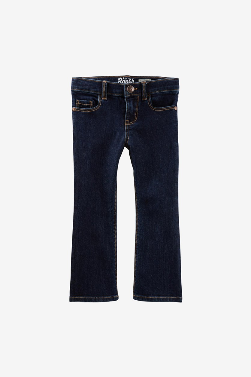 Little Girl's Boot Cut Jeans, Navy