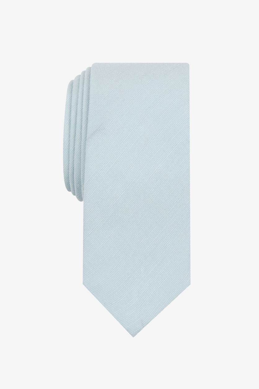 Men's Okita Solid Skinny Tie, Light Blue