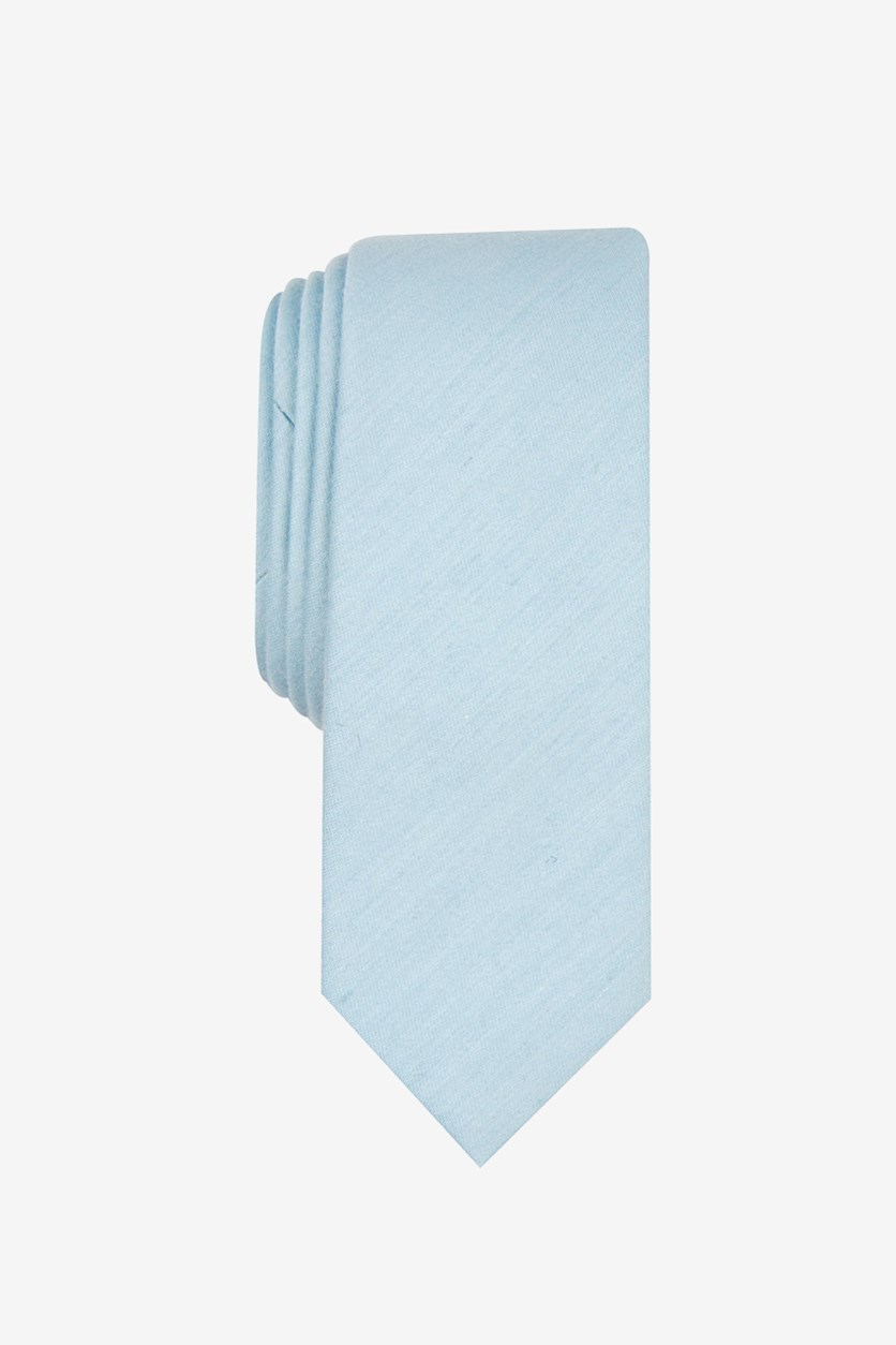 Men's Ashin Solid Skinny Tie, French Blue