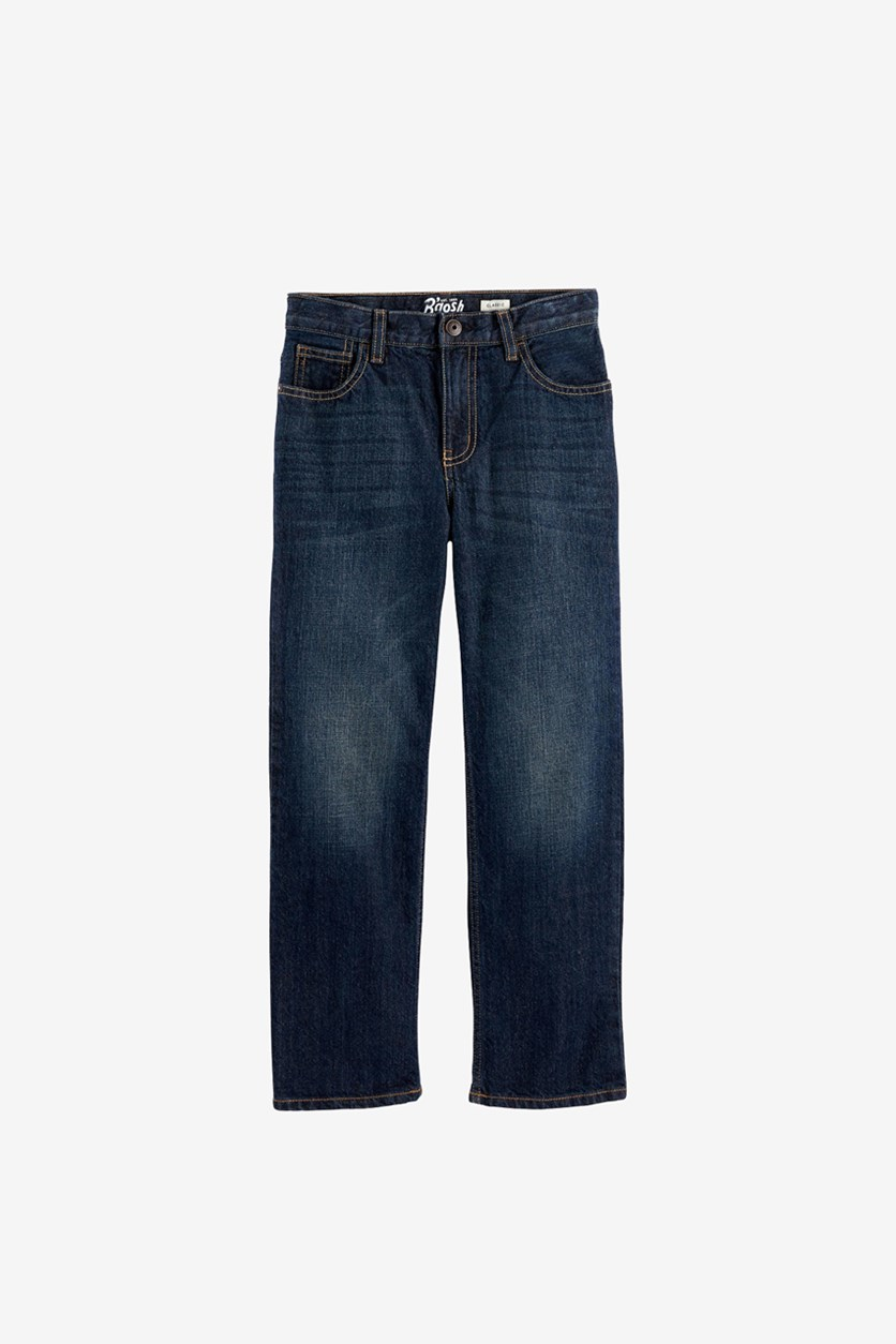 Little Boy's Classic Jeans, Navy Wash