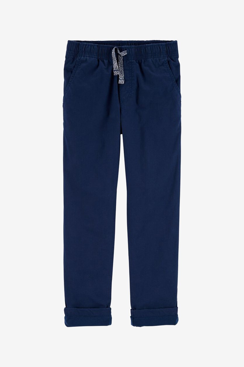 Kids Boy's Pull-On Poplin Play Pants, Navy
