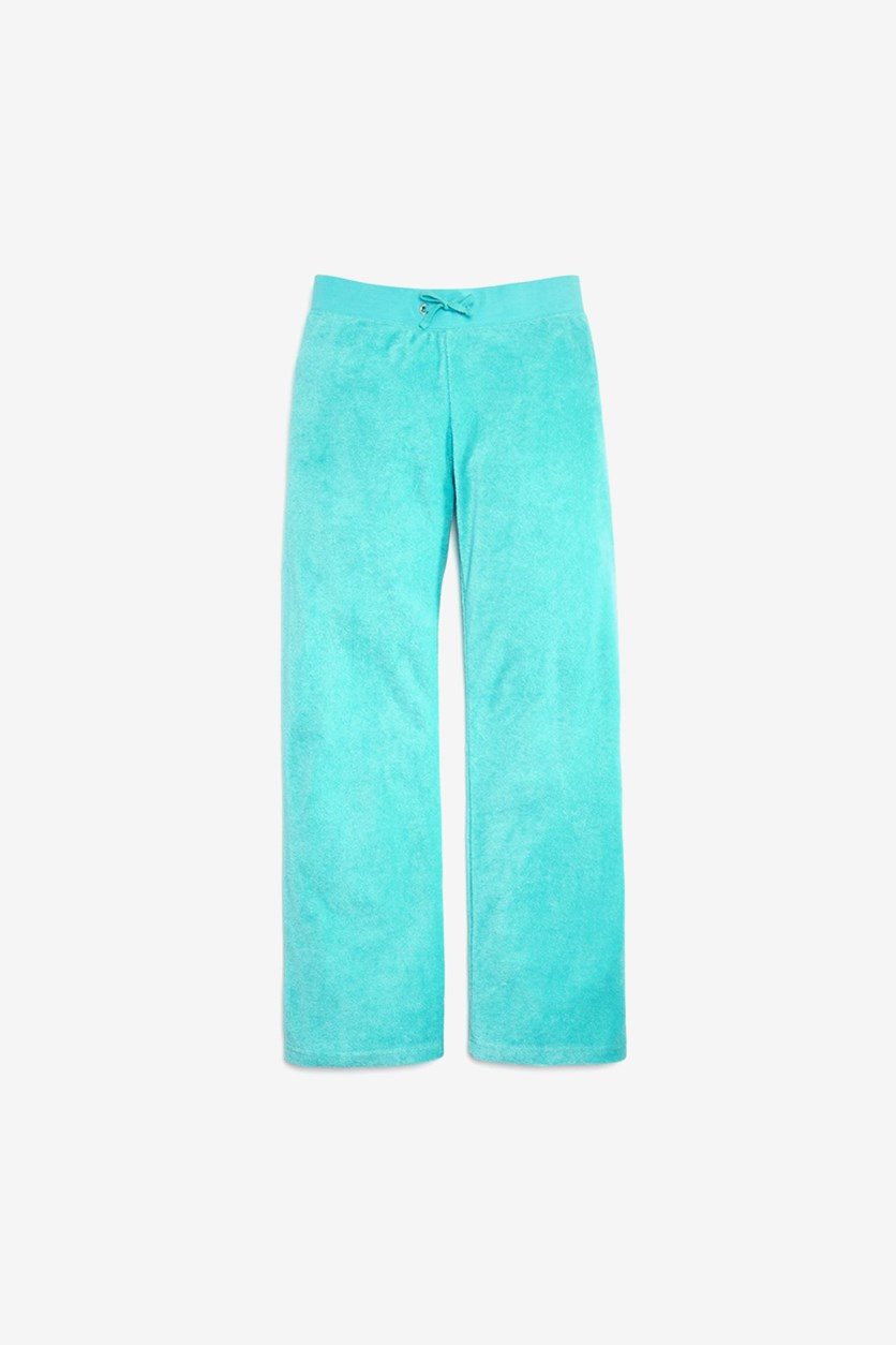 Black Label Girls' Microterry Lounge Pants, Matisse Blue