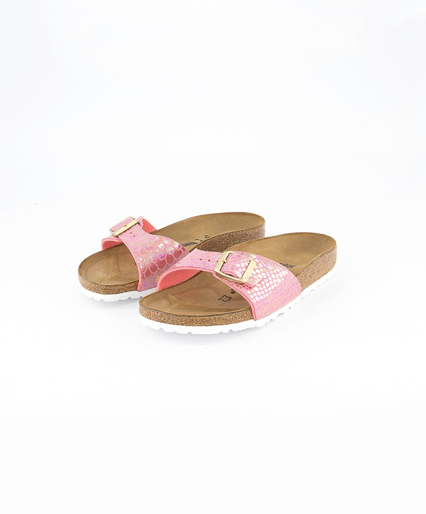 Women's Madrid Sandals, Shiny Snake Pink