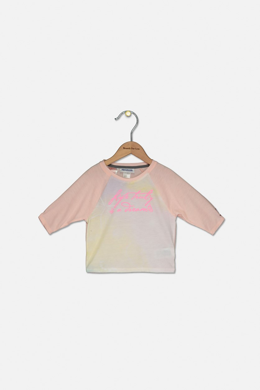 Toddlers Girl's Graphic T-Shirt, Pink