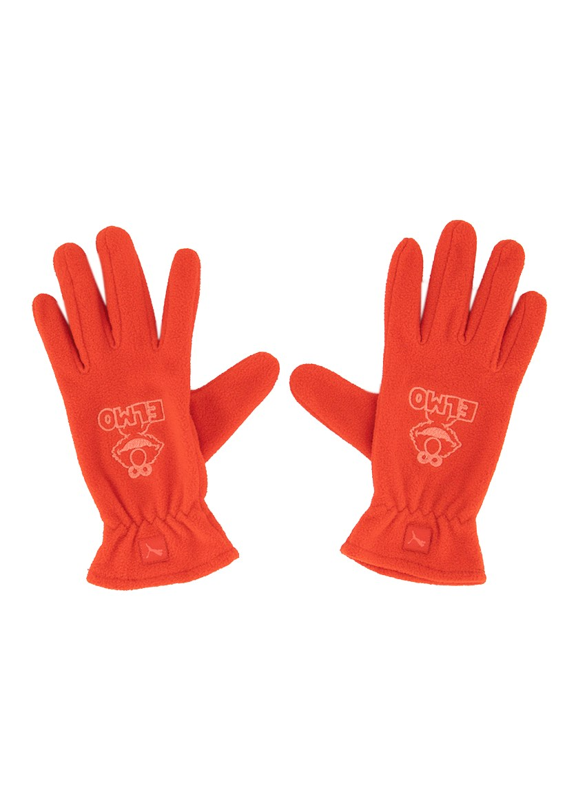 Girl's Street Gloves, Red