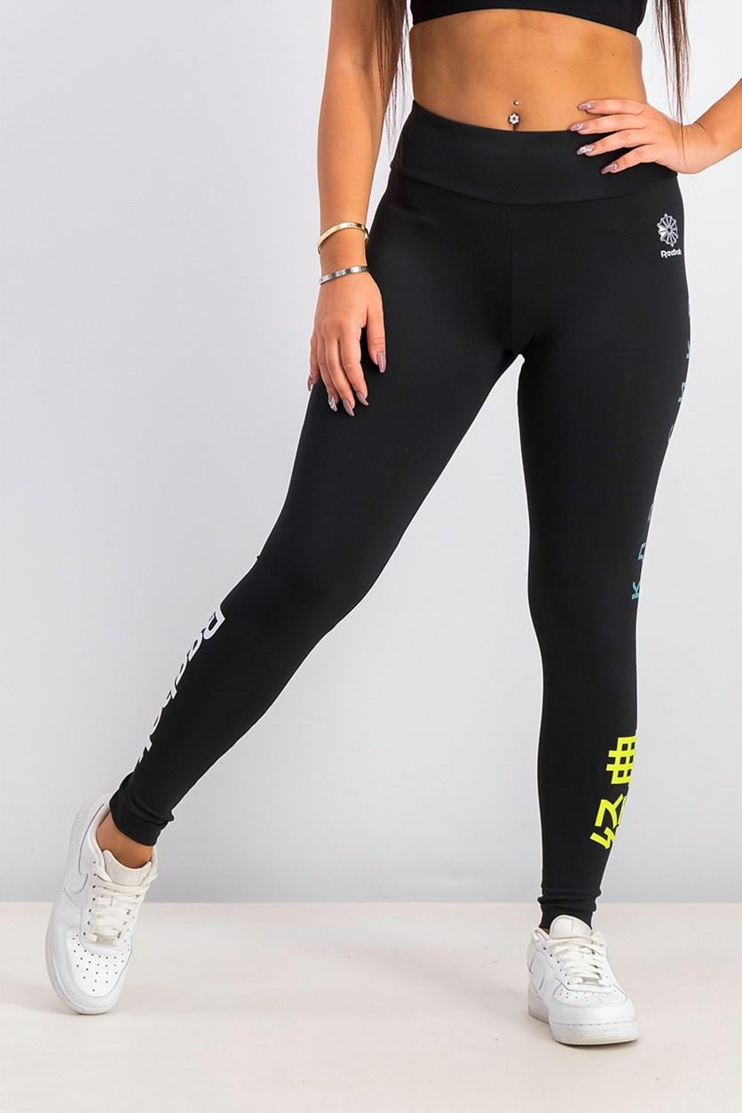 Women's Sports Leggings, Black Combo