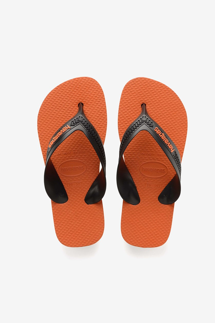 Kids Boys Max Flips, Steel Grey/Neon Orange